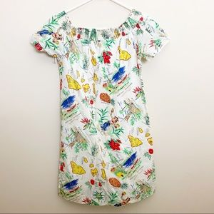 JCrew off the shoulder hawaiian dress 8